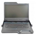 18.5-inch LCD Console Tray with integrated keyboard, touch pad